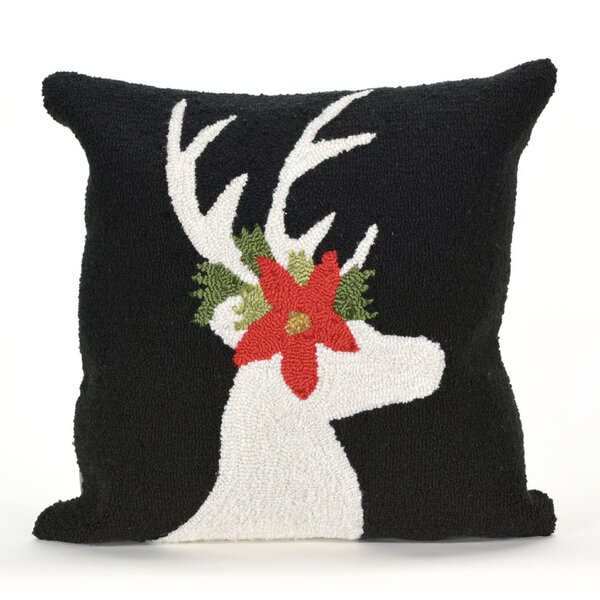 Reindeer Indoor/Outdoor Throw Pillow by The Holiday Aisle