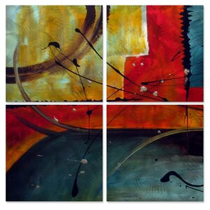 Gravity by Marina Rehrmann 4 Piece Painting Set by All My Walls
