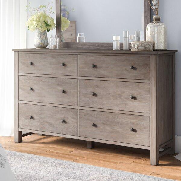 Aguirre 6 Drawer Dresser with Mirror by Lark Manor