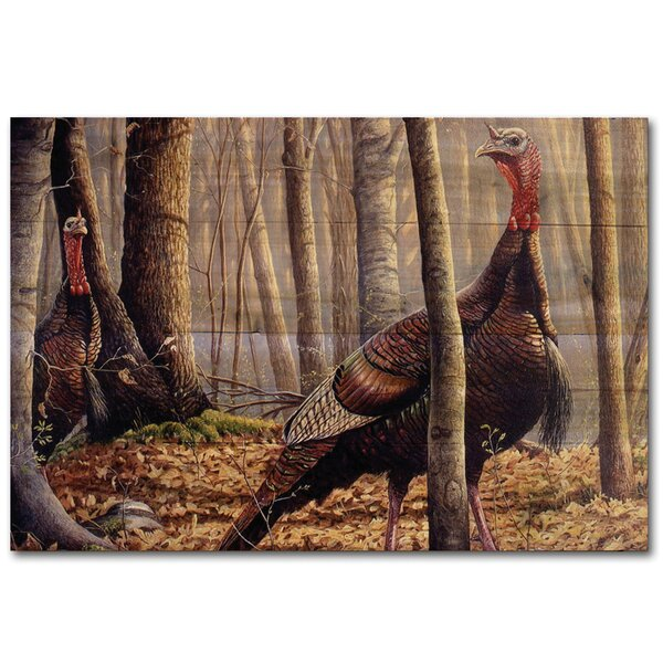 First Call Turkey Painting Print Plaque by WGI-GALLERY