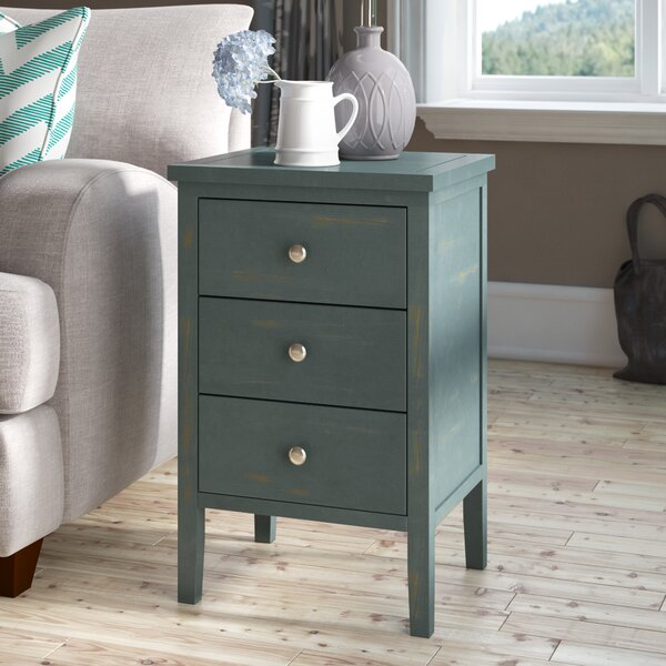 Deals Joanna Solid Wood 3 Drawer End Table