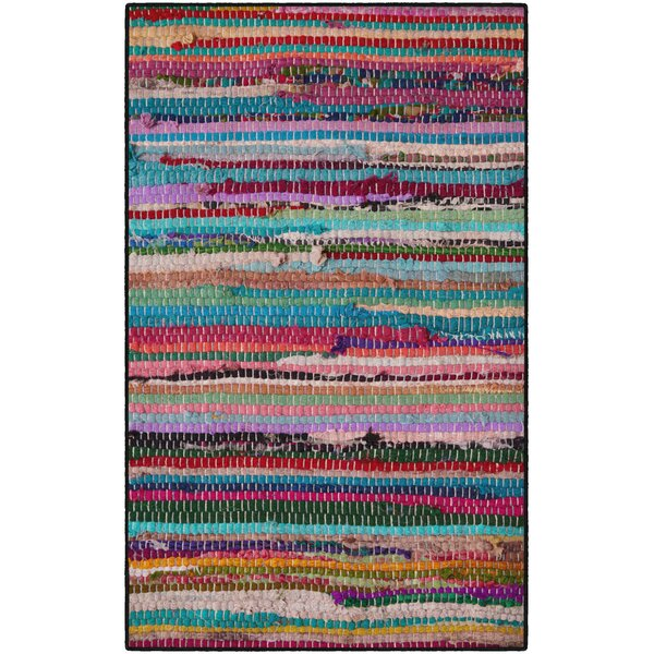 Perino Rag Red/Blue Area Rug by Bungalow Rose