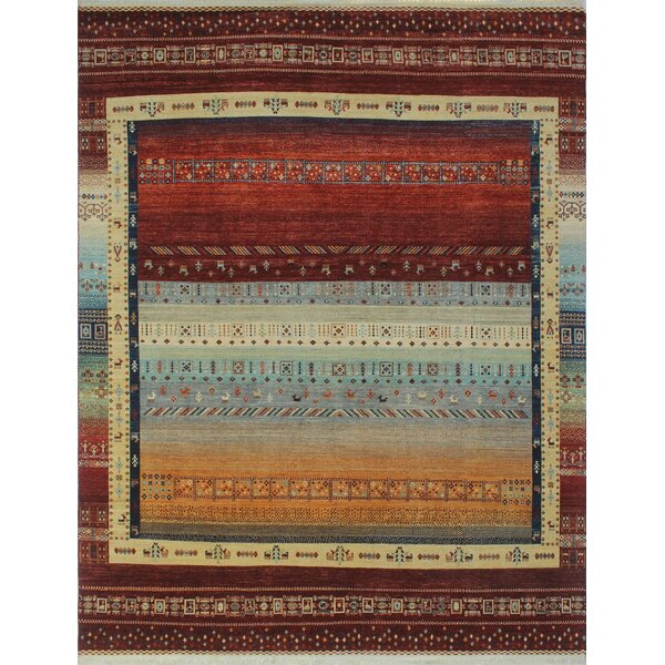 One-of-a-Kind Woodmoor Zakeya Hand-Knotted Wool Rust Area Rug by Loon Peak
