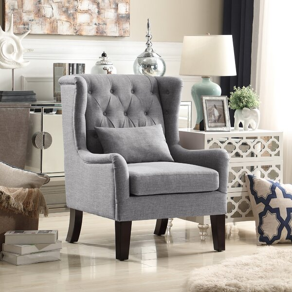 Jeramiah Wingback Chair by Alcott Hill