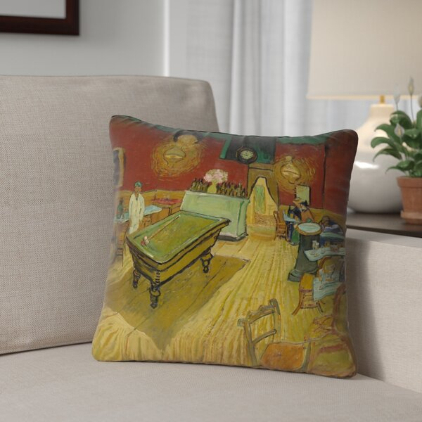 Burdick The Night Cafe Outdoor Throw Pillow