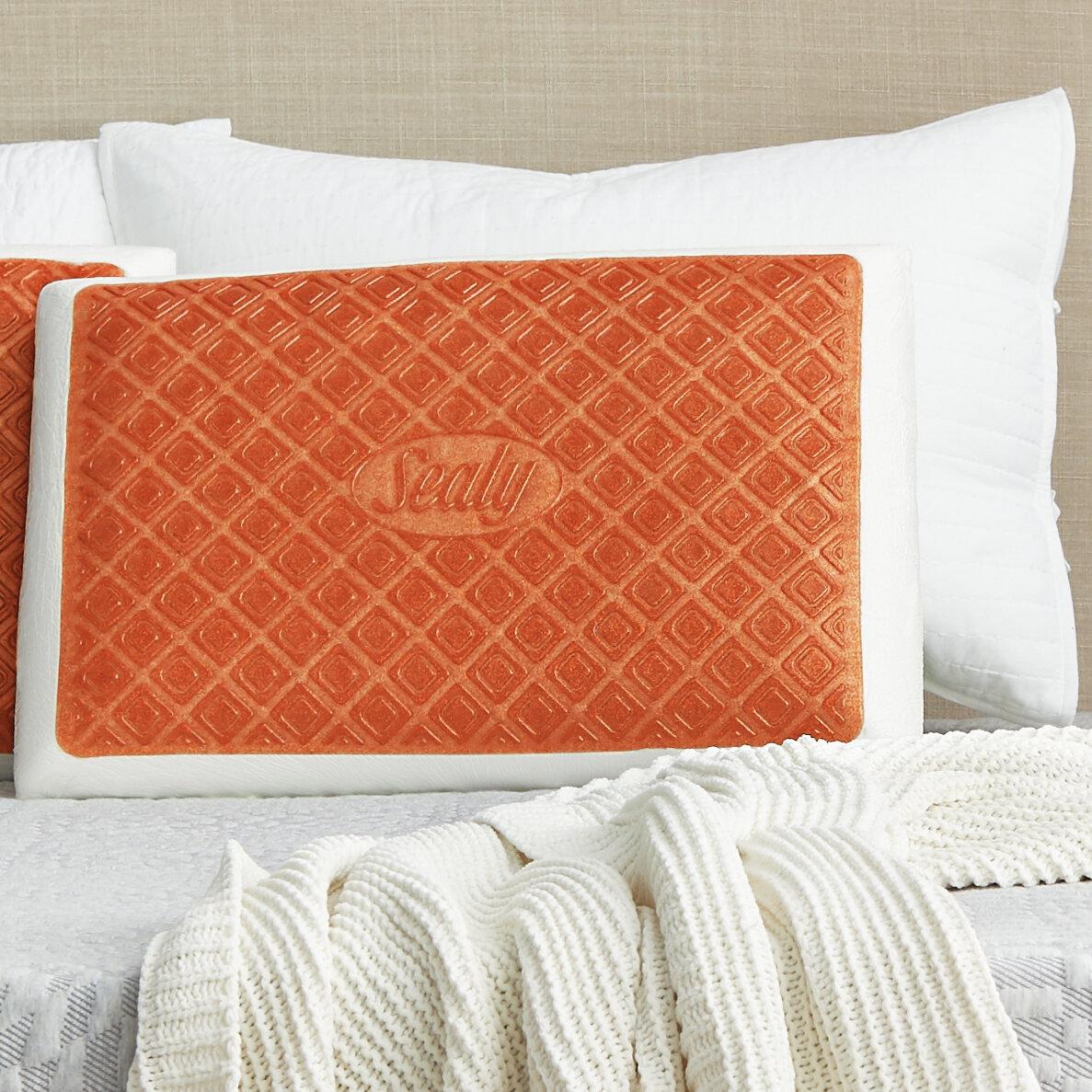 Sealy Infused Gel Memory Foam Medium Support Pillow Reviews Wayfair