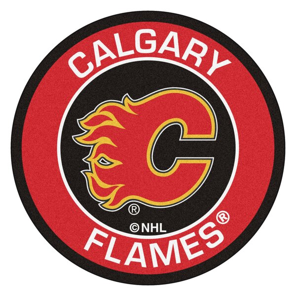 NHL Calgary Flames Roundel Mat by FANMATS