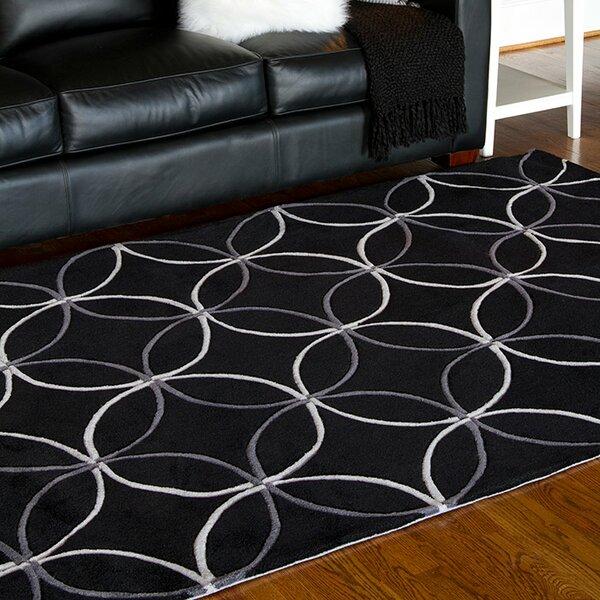 Conroy Black Area Rug by Wrought Studio
