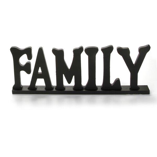 Zaire Wooden Tabletop Sign Family Letter Block by Winston Porter
