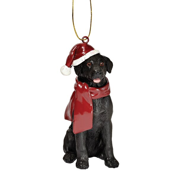 Lab Holiday Dog Ornament Sculpture by Design Tosca