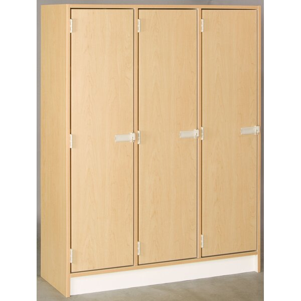 Lockers 1 Tier 3 Wide Employee Locker by Stevens ID Systems