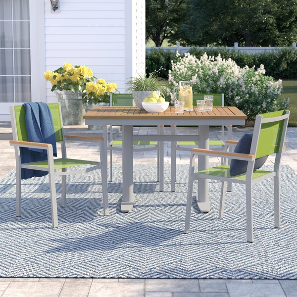 Caspian 5 Piece Teak Dining Set by Sol 72 Outdoor