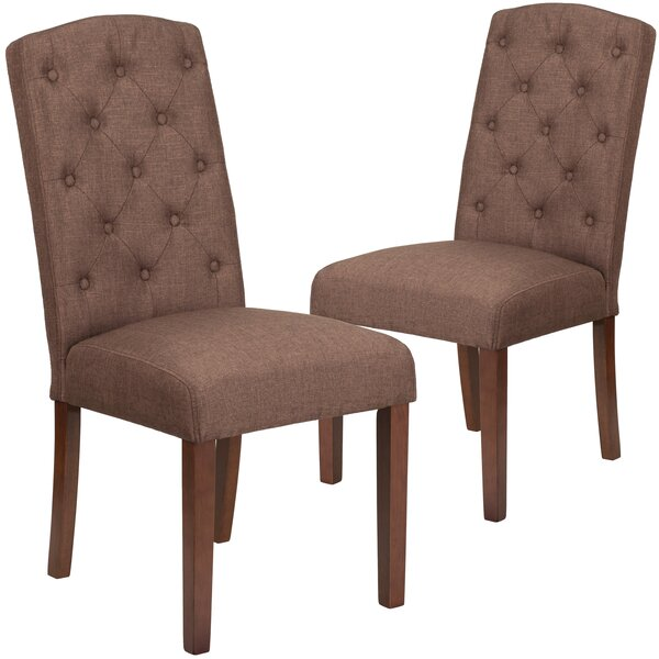 Orland Mid-Century Tufted Parsons Upholstered Dining Chair (Set of 2) by Charlton Home Charlton Home