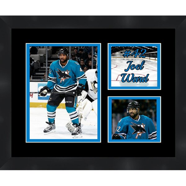 San Jose Sharks Joel Ward 42 Photo Collage Framed Photographic Print by Frames By Mail