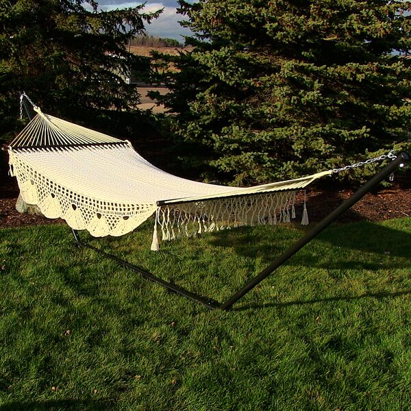 Americana American Deluxe Style Hammock with Stand by Bungalow Rose