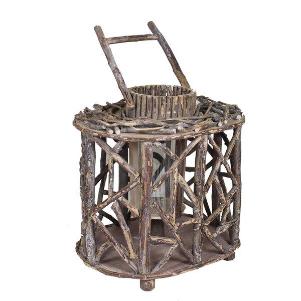 Rustic Wood Lantern by Loon Peak