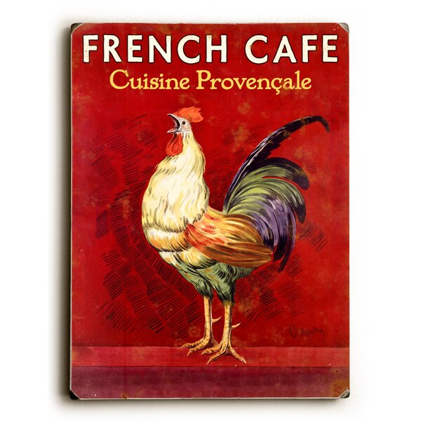 French Café Rooster Vintage Advertisement by Artehouse LLC