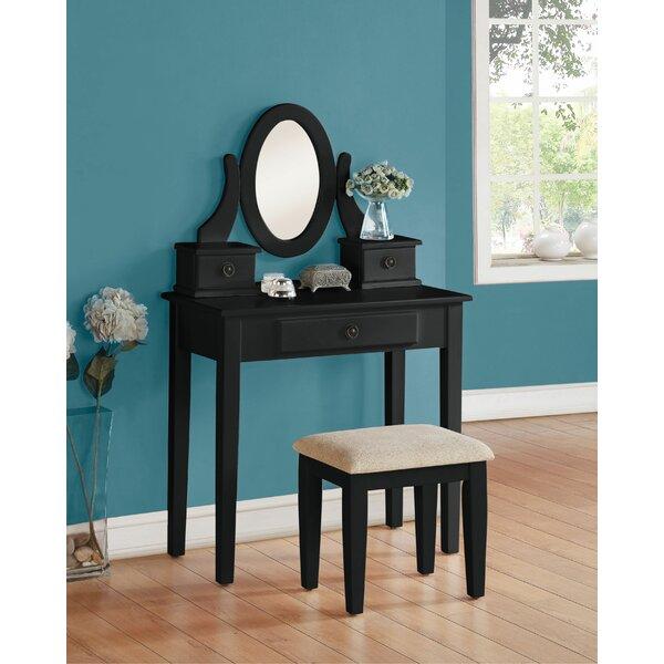 Fakenham Vanity Set with Mirror by Canora Grey
