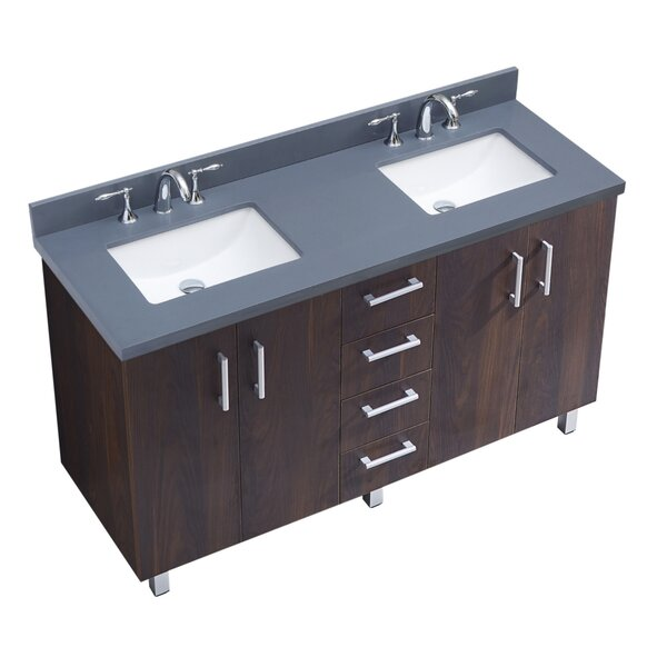 IN Series 60 Double Bathroom Vanity Set by InFurniture