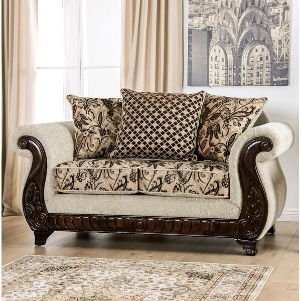 Review Renetta Rolled Arms Loveseat