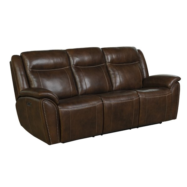 Alejandro Leather Reclining Sofa by Red Barrel Studio
