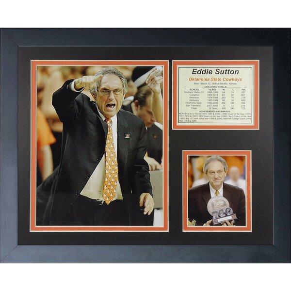 Eddie Sutton - Oklahoma State Framed Memorabilia by Legends Never Die