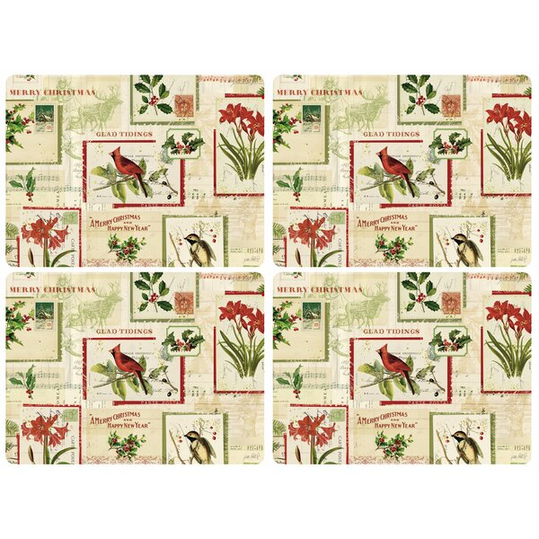 Holiday Nostalgia 16 Placemat (Set of 4) by Pimpernel