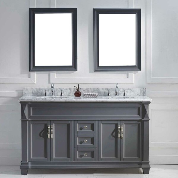 Kace 61 Double Bathroom Vanity Set with Mirror by Darby Home Co