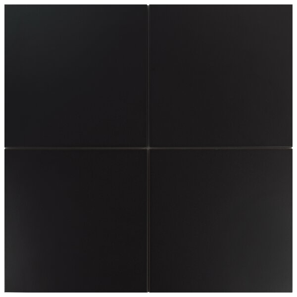 Tessile 9.75 x 9.75 Porcelain Field Tile in Basic Black by EliteTile