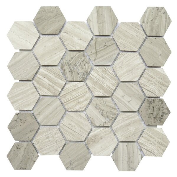 Bari 2 x 2 Marble Mosaic Tile in Mocca by NovoTileStudio