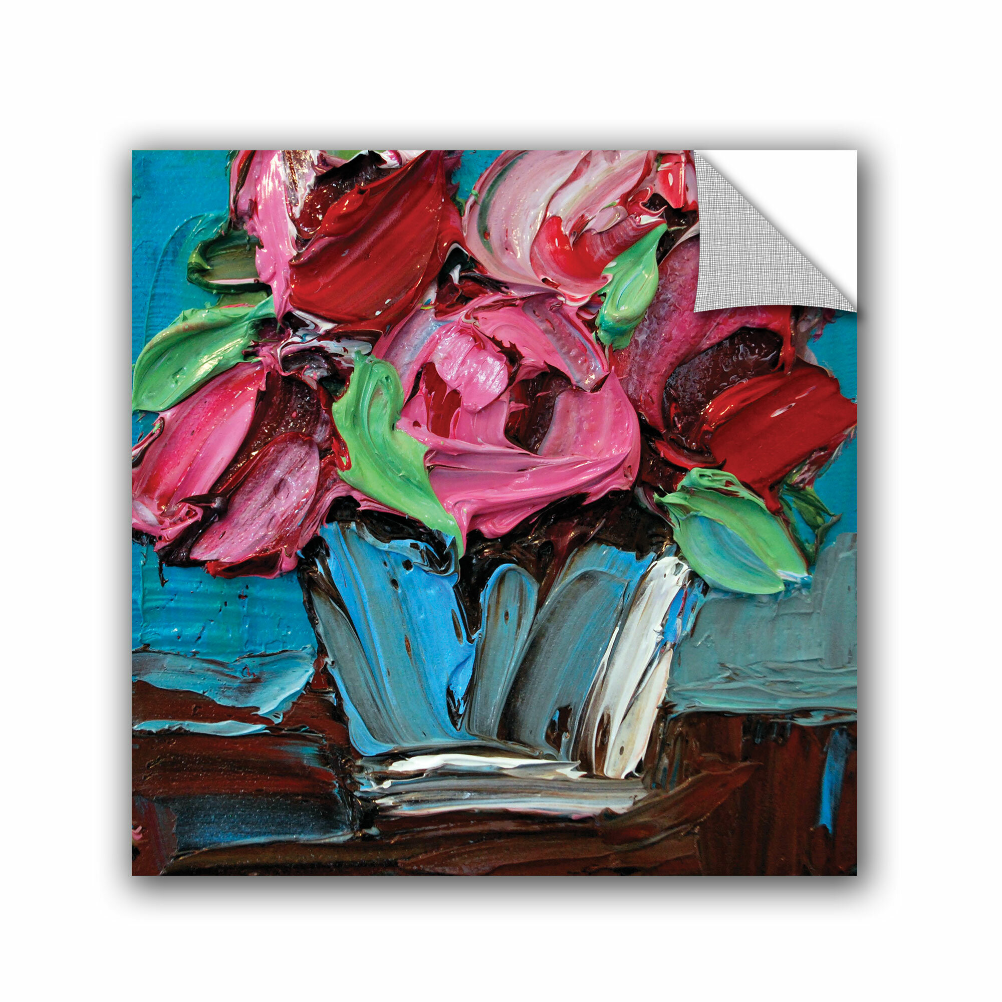 Artwall michelle rivera candy pink bouquet wall mural for Candy wall mural