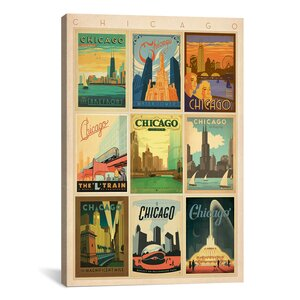 'Chicago' Vintage Advertisement on Canvas by East Urban Home