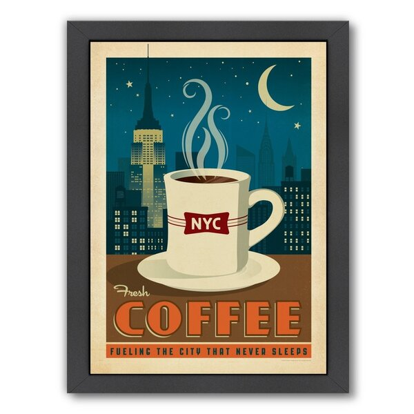 Coffee New York Coffee Framed Vintage Advertisement by East Urban Home