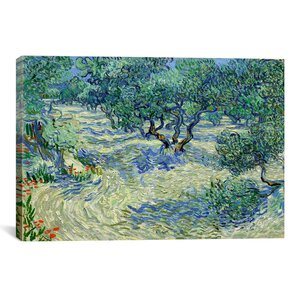 'Olive Orchard' by Vincent van Gogh Painting Print on Canvas by Andover Mills