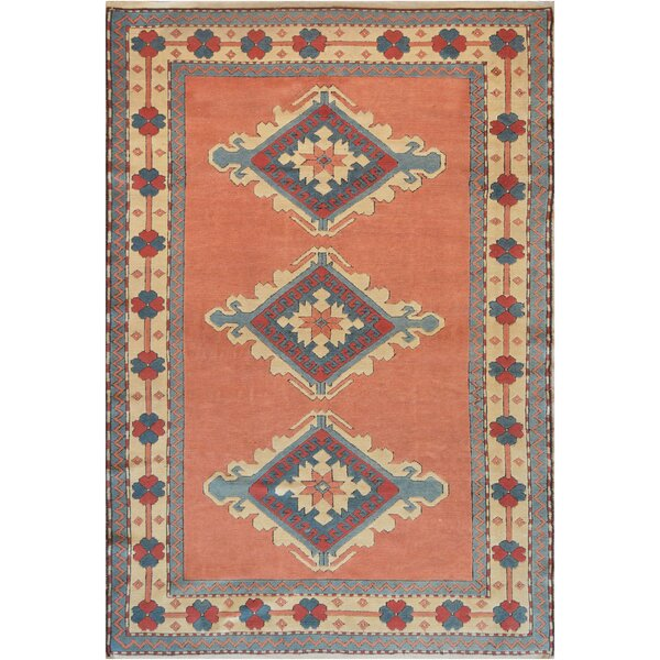 One-of-a-Kind High Quality Oushak Handwoven Wool Salmon Indoor Area Rug by Mansour