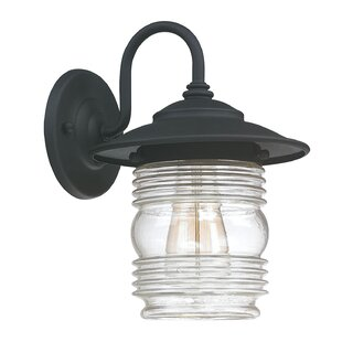 Price comparison Glen 1-Light Outdoor Barn Light By Beachcrest Home