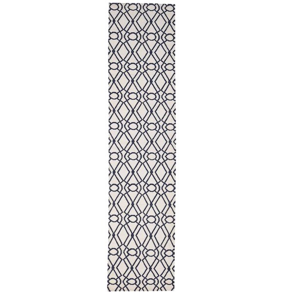 Reversible Flat Weave Durie Kilim Hand-Knotted Ivory Area Rug by House of Hampton