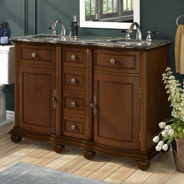 Hearne 52 Double Bathroom Vanity Set by Three Posts