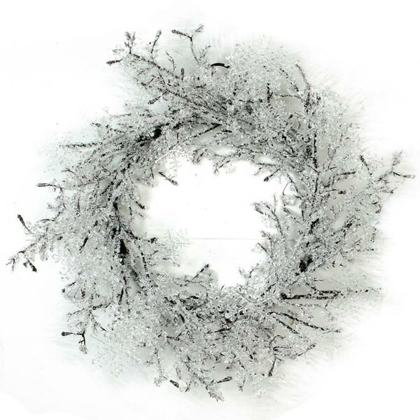 Christmas 22 Clear Ice and Snowflakes on Twigs Wreath by The Holiday Aisle
