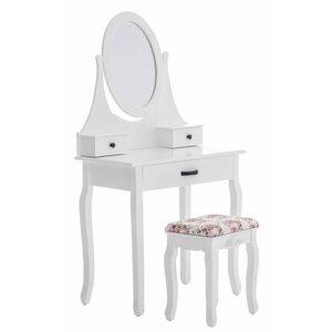 Schminktisch-Set Guenat mit Spiegel von All Home
