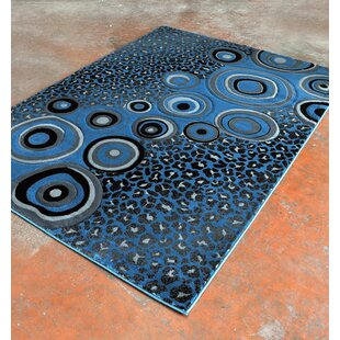 Great Price Light Blue/Black Area Rug By Rug Tycoon