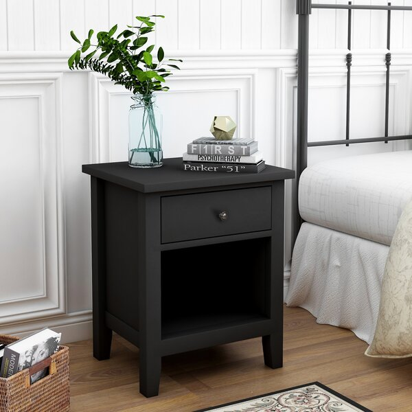 Woodley Rectangular 1 Drawer Nightstand by Canora Grey