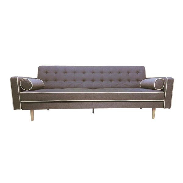 Clarissa 2 Tone Mid Century Sleeper Sofa by Langley Street