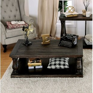 Blackfriars Coffee Table with Wooden Top Canora Grey