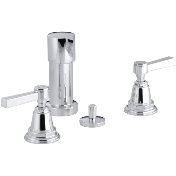 Pinstripe Vertical Spray Bidet Faucet with Lever Handles by Kohler