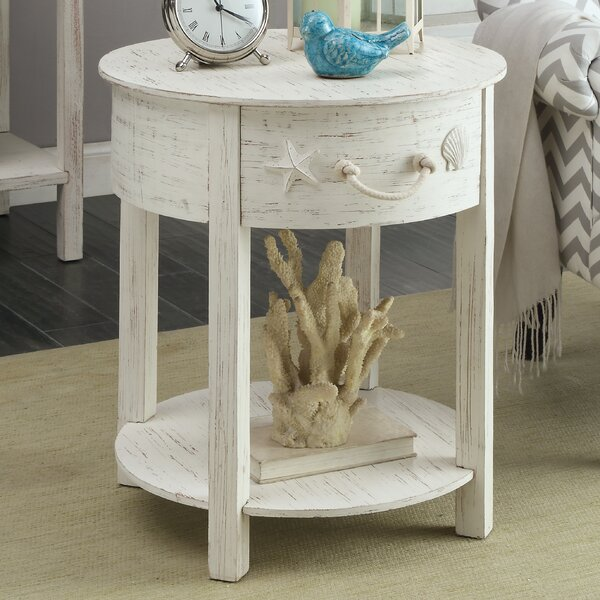 Dudek End Table With Storage  by Beachcrest Home