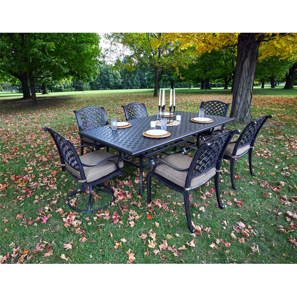 Kempf 7 Piece Dining Set with Cushions by Darby Home Co