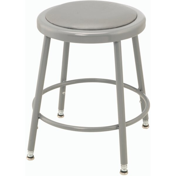 Height Adjustable Upholstered Seat Stool by Nexel