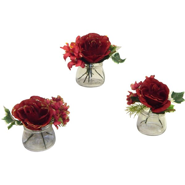 3 Piece Rose and Lily Arrangement Set by Astoria Grand