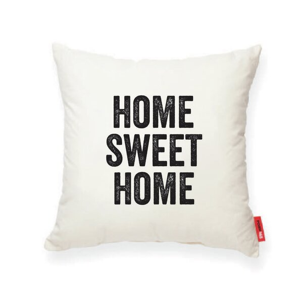 Expressive Home Sweet Home Decorative Cotton Throw Pillow by Posh365